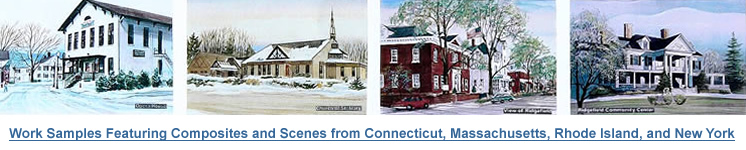 Work Samples Featuring Composites and Scenes from Connecticut, Massachusetts, Rhode Island, and New York